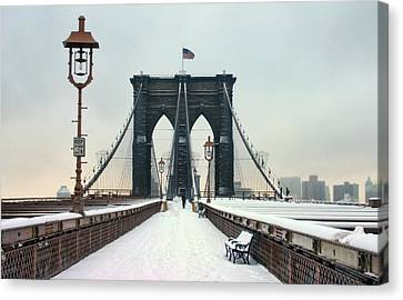 Brooklyn Bridge Canvas Print by June Marie Sobrito