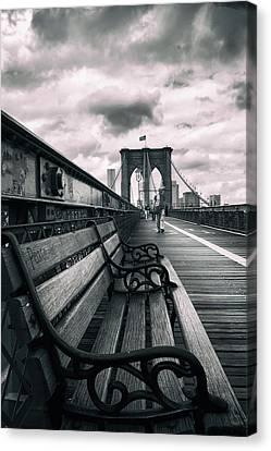 Brooklyn Bridge Mood Canvas Print by Jessica Jenney