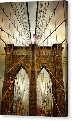Brooklyn Bridge Twilight Canvas Print by Jessica Jenney