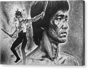 Bruce Lee Canvas Print by Darryl Matthews