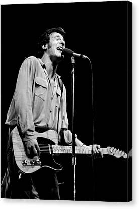 Bruce Springsteen 1981 Canvas Print by Chris Walter