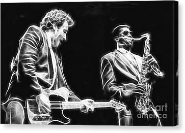 Bruce Springsteen Canvas Print - Bruce Springsteen Clarence Clemons Collection by Marvin Blaine