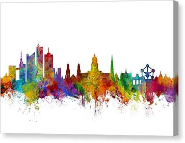 Brussels Belgium Skyline Canvas Print