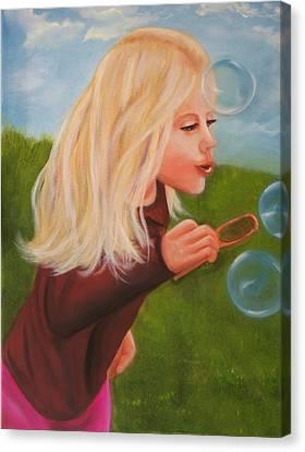 Bubbles Canvas Print by Joni McPherson