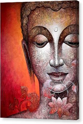 Buddha Canvas Print by Rachna Gupta