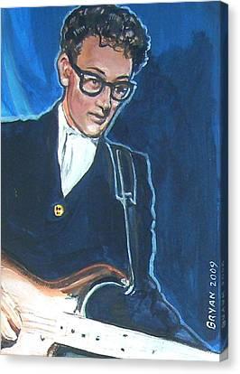 Buddy Holly Canvas Print by Bryan Bustard