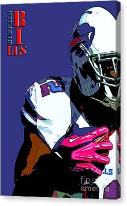 Newyorkcity Canvas Print - Buffalo Bills Football Team And Original Typography by Pablo Franchi