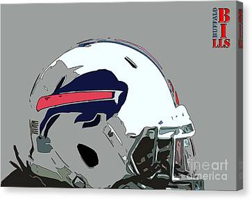 Buffalo Bills Football Team Ball And Typography Canvas Print