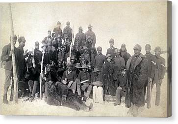 Buffalo Soldiers Of The 25th Infantry Canvas Print by Everett