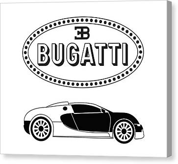 Bugatti Veyron Canvas Print by Robert Johansson