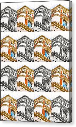 Buildimng Collage Canvas Print