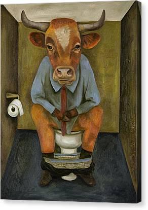 Bull Shitter Canvas Print by Leah Saulnier The Painting Maniac