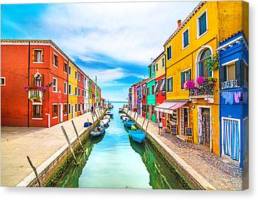Burano Canvas Print by Ivan Vukelic