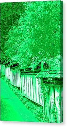 Butchart Gardens Fence Image Canvas Print by Paul Price
