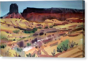 Butte And Mesa Canvas Print by Donald Maier