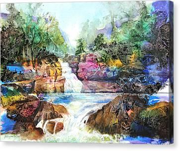 Buttermilk Falls IIi Canvas Print by Patricia Allingham Carlson