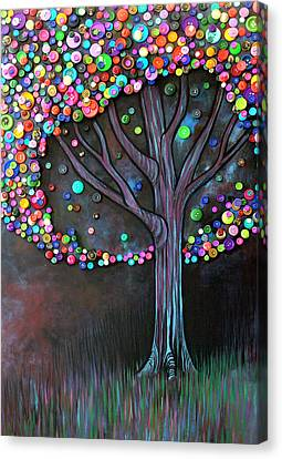 Impression Canvas Print - Button Tree 0006 by Monica Furlow