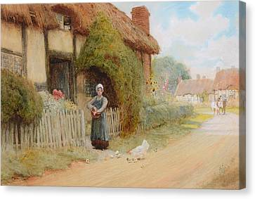 By A Cottage Canvas Print
