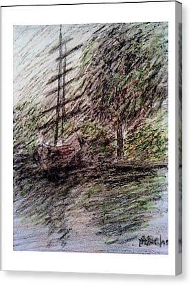 By The Lake Canvas Print by Aida Behani