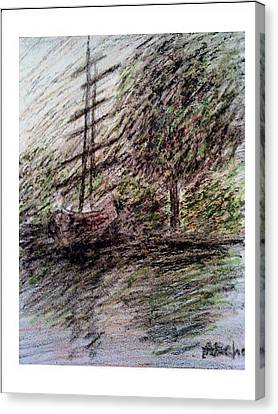 By The Lake Canvas Print by Aida Behani