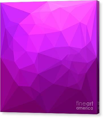 Byzantine Canvas Print - Byzantine Purple Abstract Low Polygon Background by Aloysius Patrimonio
