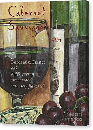 Cellar Canvas Print - Cabernet Sauvignon by Debbie DeWitt