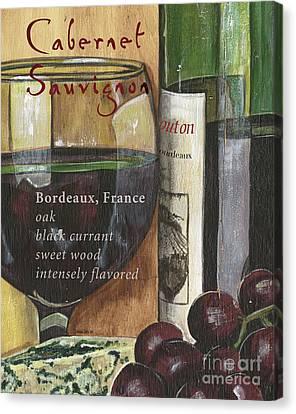 Grapevines Canvas Print - Cabernet Sauvignon by Debbie DeWitt