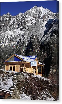 Meeting Point Mountain Restaurant Canvas Print by Aidan Moran