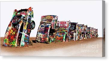 Cadillac Ranch 1 Canvas Print by Bob Christopher