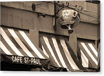 Cafe St. Paul - Montreal Canvas Print