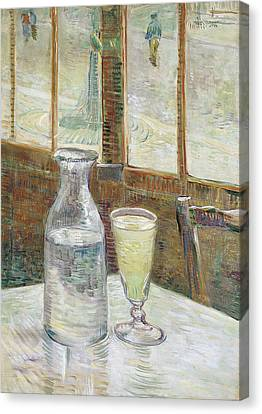 Cafe Table With Absinthe Canvas Print
