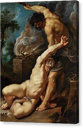 Christian Sacred Canvas Print - Cain Slaying Abel by Peter Paul Rubens