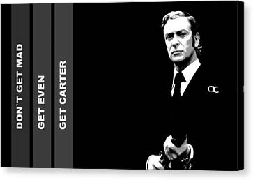 Get Carter Movie Canvas Print - Caine As Carter by Martin James
