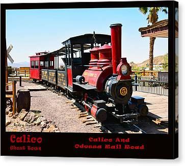 Calico And Odessa Rail Road Photo Canvas Print by Barbara Snyder