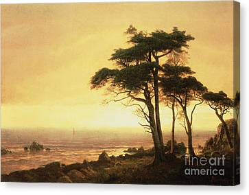 California Coast Canvas Print by Albert Bierstadt