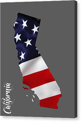 Skylines Canvas Print - California State Map Collection by Marvin Blaine