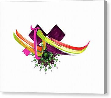 Calligraphy 30 4 Canvas Print by Mawra Tahreem