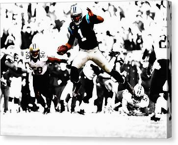 Tebow Canvas Print - Cam Newton Shake And Bake by Brian Reaves