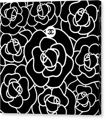 Flower Design Canvas Print - Camellia Cc by Tres Chic