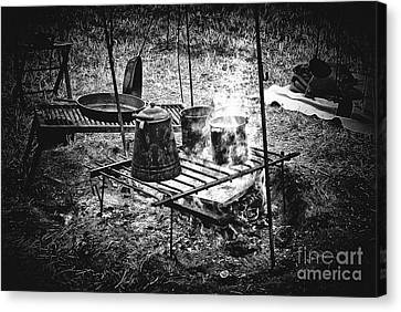 Camp Fire - Stove Canvas Print