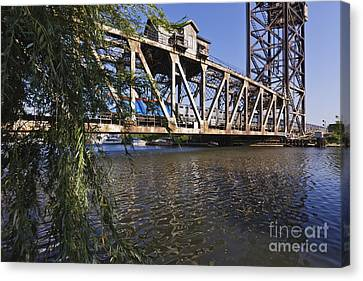 Canal Street Railroad Lift Bridge Canvas Print by Jeremy Woodhouse