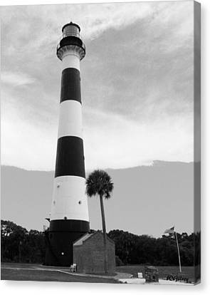 Canaveral Lighthouse  Canvas Print by W Gilroy