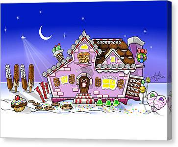 Candy House Canvas Print by Andy Bauer