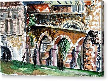 Canterbury England Cloisters Canvas Print by Mindy Newman