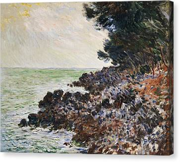 Cap Martin Canvas Print by Claude Monet