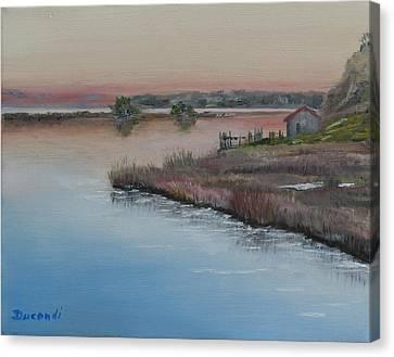 Cape Cod Sunset - Oil On Canvas Canvas Print