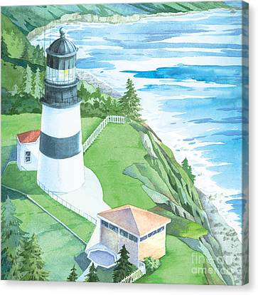 Cape Disappointment Lighthouse Canvas Print by Paul Brent