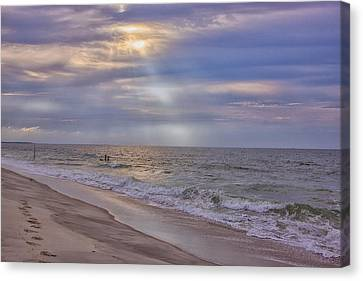 Cape May Beach Canvas Print by Tom Singleton