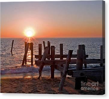 Cape May Sunset Canvas Print by Robert Pilkington