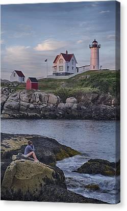 Cape Neddick Lighthouse Canvas Print by David DesRochers